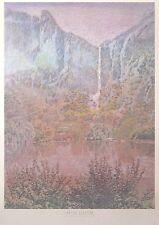 CARSON gladson imprimer -61 x86-sous les chutes, 1988 paysage poster