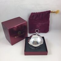 2003 Wallace Silver Plate Sleigh Bell Christmas Ornament w/ Original Box & Pouch