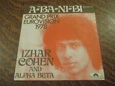 "45 tours Izhar Cohen and the ""Alpha-beta"" - A-ba-ni-bi"