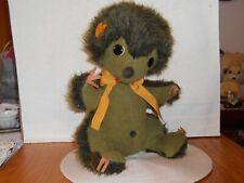 "Vintage 15 1/2"" Seated Animal Fair Plush Green Possum Tagged Rare"