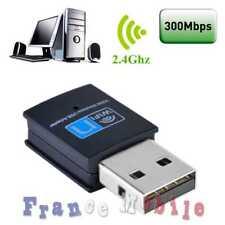 Cle Wifi USB Adaptateur Sans Fil Dongle Réseau Wireless 300Mbps 802.11n/g/b