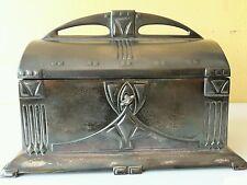 Antique Original 1900 Pewter Art Nouveau Secessionist WMF Jewelry Box