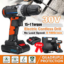 3/8'' 30V 2 Speed Electric Cordless Drill Driver 2x Lithium-Ion Screwdrive