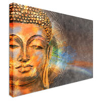 Buddha At Peace Canvas Wall Art Picture Print