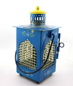 "indian handmade blue lantern. 9"" lantern, , home and office decor, gift items"