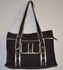OiOi Black and Grey Diaper Bag Slightly Used Tote Style Orange Interior