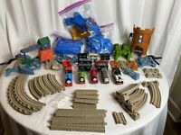 LOT Of 96 Thomas The Train Castle Quest W/ Tracks, Switches & 5 Powered Trains