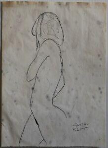 Ink drawing signed GUSTAV KLIMT