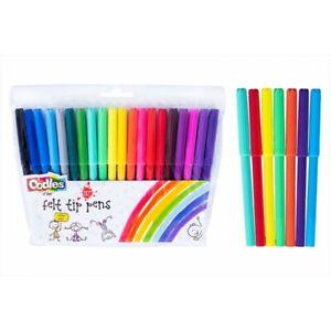 20-50 Coloured Felt Tip Pens | Kids Brush Colouring Pens | Art Craft Marker Pens