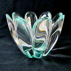 Vtg 60's Orrefors J. Johansson Mayflower Green Clear Glass 4791-12 Good Cond.!