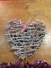 Wicker Decorative Hanging Heart - New