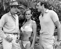 """SEAN CONNERY, URSULA ANDRESS & JACK LORD ON SET OF """"DR. NO""""  8X10 PHOTO (ZZ-935)"""