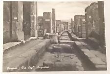 Vintage post card Postcard - Pompei Pompeii - Augustales Street, Italy 1950's
