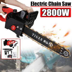 2800W 240V Electric Chainsaw Carbon Steel Saw Fast Speed Wood Cutting Machine