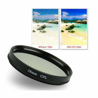 30 37 43 46 49 55 58 62 67 72 77 82mm CPL Camera Circular Polarizing Lens Filter