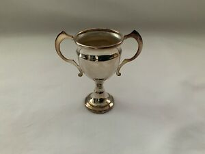 VINTAGE SILVER PLATE SMALL TROPHY CUP