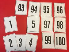 Full Sized - Numbers 1-100 flash cards. Pre-k, Preschool Math Number