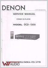 Denon DCD 1300 CD Player Service Anleitung Service Manual