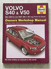 Haynes Manual 4731 - Volvo S40 & V50, 2004 to 2007, petrol & diesel