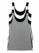 Felina Womens 4-Pack Tank Tops Reversible Neckline Cotton/Modal Sz XL NEW Opened