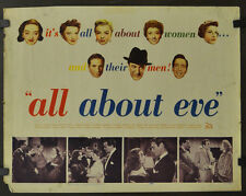 ALL ABOUT EVE 1950 ORIG. 22X28 MOVIE POSTER INSERT MARILYN MONROE BETTE DAVIS