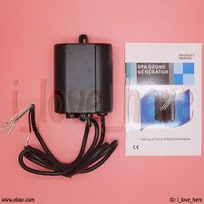New 300 mg/h Aquatic 2 Spa Tube Ozone Generator Pool Water Air Ozonator AMP Plug