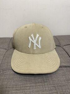 Aime Leon Dore ALD/New Era Brushed Nylon Yankees Hat Khaki (fitted size 7)
