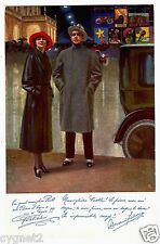 POSTCARD ITALIAN PIRELLI RAINCOATS WITH ADVERTISING POSTERS ILLUSTRATED