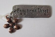 k Enjoy Simple Things flower SIMPLY TAGS N CHARMS double Charm Pendant Ganz