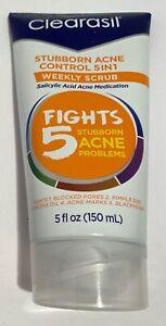 Clearasil Stubborn Acne Control 5in1 Weekly Scrub Salicylic Acid 5 oz New