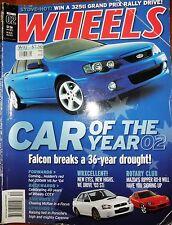 Wheels Mag 2002 Ford BA Falcon Car of the Year Mazda RX8 WRX STi Porsche Cayenne