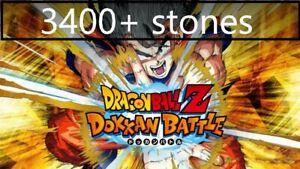 dokkan battle global android super starter account 3400+ stones DBZ
