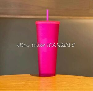 """Pre-sale"" 2021 Starbucks China Summer 2 Color Purple Glitter Barbie Pink"