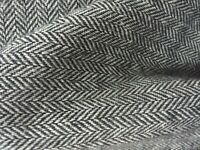 3m Italian herringbone grey  wool  fabric for suits ,coats 150 cm wide