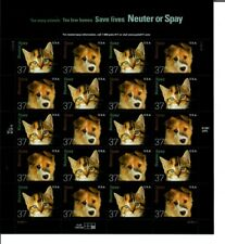 US SCOTT #3670-71 PANE OF 20 SAVE LIVES NEUTER OF SPAY STAMPS 37 CENT MNH