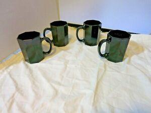 Vintage France Amethyst Cup Mug set of 4 France H10 47 Octagonal