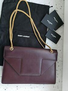 Authentic YSL SAINT LAURENT Betty leather chain Shoulder bag