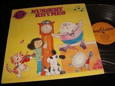 SING & LEARN<>NURSERY RHYMES<>LP Vinyl~USA Pressing<>MAC MILLAN PROGRAM 09007