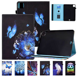 Patterned PU Leather Smart Flip Case Cover for iPad 5 6 7 8 9th Gen Pro Air Mini