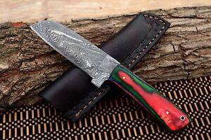 MH KNIVES CUSTOM HANDMADE DAMASCUS STEEL FULL TANG HUNTING/SKINNER KNIFE MH-309T