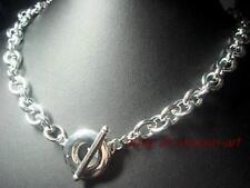 Homme,hautement poli,  anneau de forme , argent 925, collier, 50cm