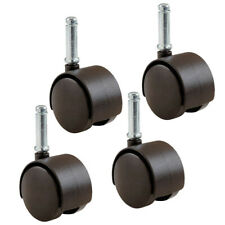 """4 PACK Rubbermaid Office Chair Caster Wheels 1.5"""" Friction-Grip Stem M13B0300"""