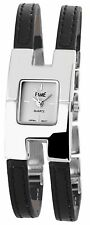 Fame Damenuhr Analog Armbanduhr Lederimitationarmband Farbe Schwarz Uhr   #23