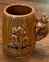 Vintage Yellowstone Park Old Faithful Souvenir Bear Coffee Mug Cup