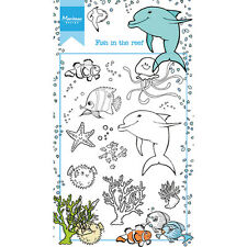 Marianne Design claro Sellos-Hetty de peces en el arrecife HT1618