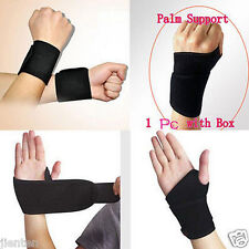 Hot Black Wrist Guard Band Brace Support Carpal Tunnel RSI Pain Sport Bandage