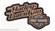 """GENUINE HARLEY DAVIDSON SIGNATURE SHIELD 4-1/4"""" INDOOR BLACK STICKER DECAL!"""