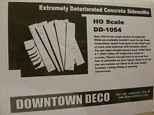 Downtown Deco HO #1054 Deteriorated Concrete Sidewalk -- Kit