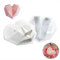 DIY Chocolate Cake Tin Silicone Heart Shaped Dessert Mould Mousses Cheesecake