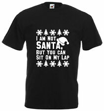 I'm Not Santa But You Can Sit On My Lap Funny T Shirt Xmas Gift Christmas Tee